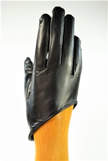 ladies nappa gloves, silk lined, black