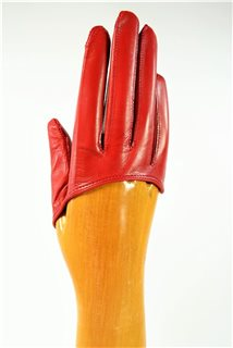 ladies nappa finger gloves, not lined, red