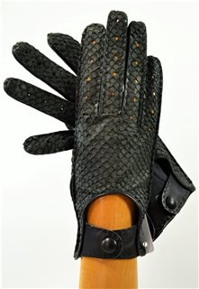 Salmon ladies driving gloves, black