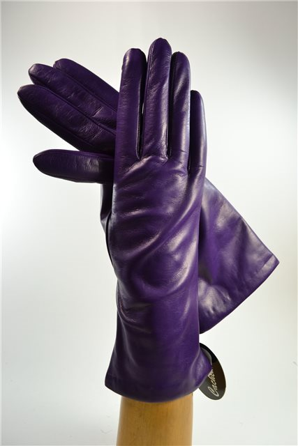 "ladies nappa gloves 3"", cashmere lined, purple"