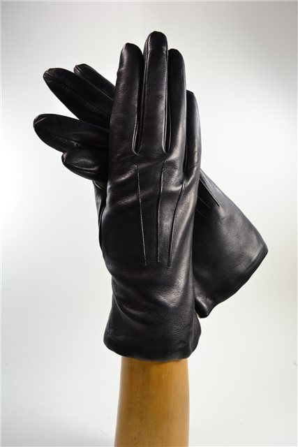 ladies nappa gloves, cashmere lined, navy