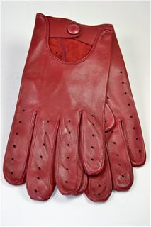 nappa driving gloves, man, red