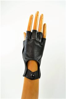 nappa driving gloves without fingers, ladies, black