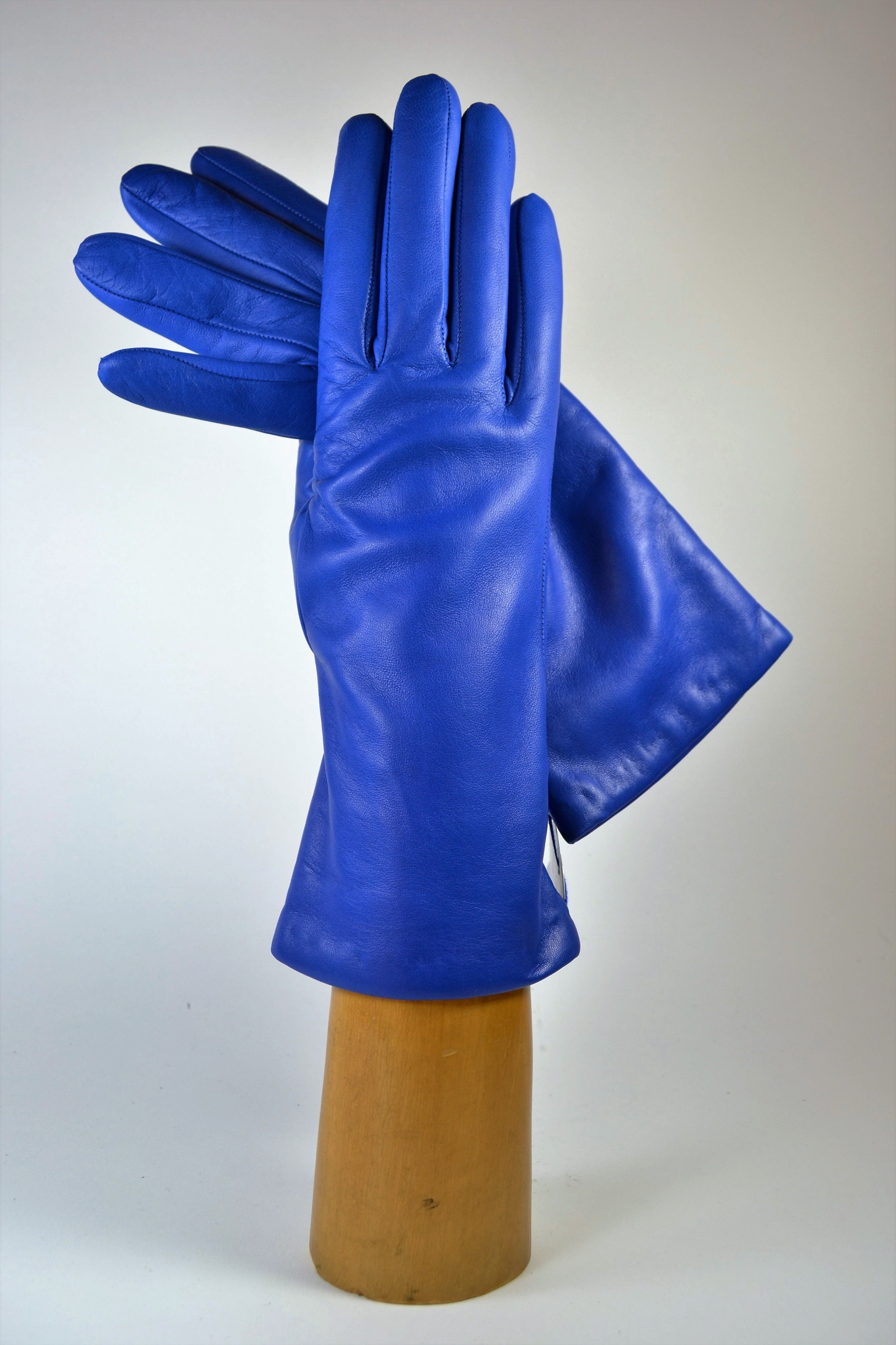 "ladies nappa gloves 3"", cashmere lined, royal blue"