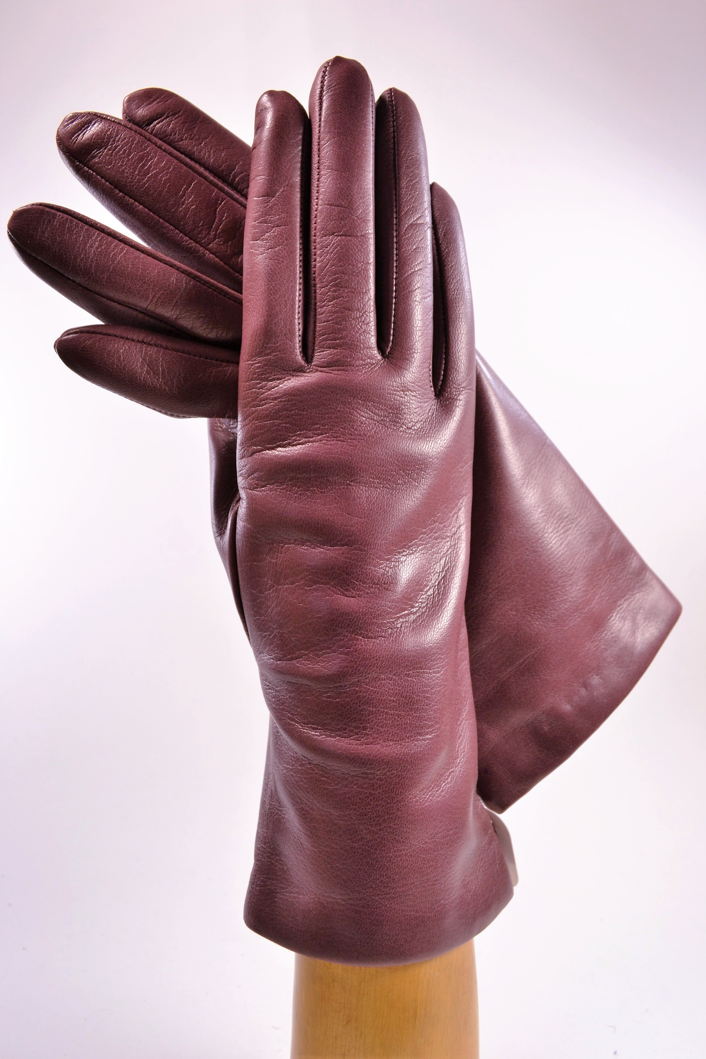 "ladies nappa gloves 3"", cashmere lined, old rose"