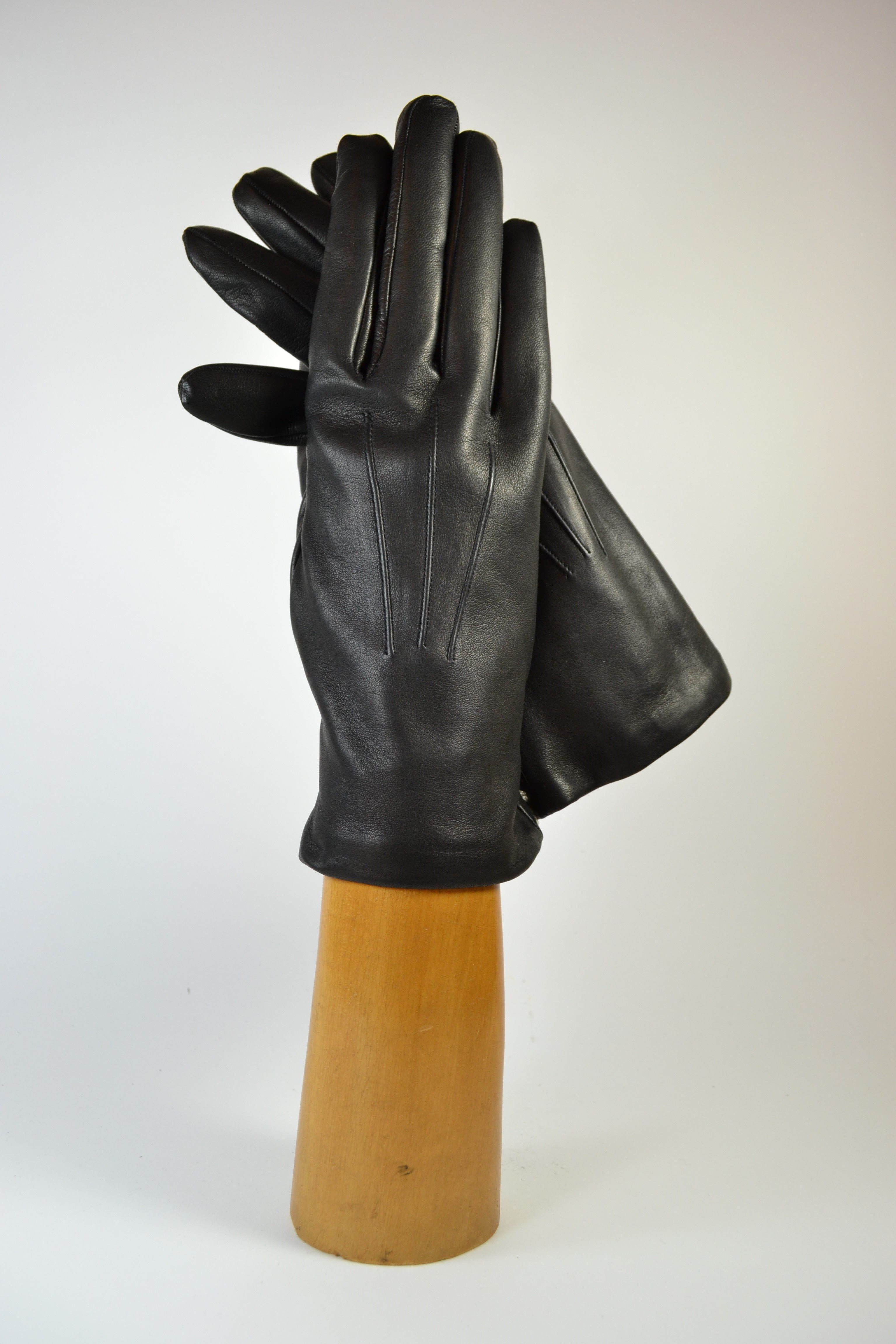 ladies nappa gloves, short, cashmere lined, black