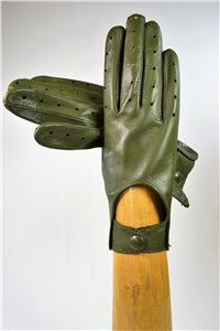 nappa driving gloves, ladies, olive green