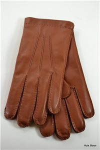 Handsewn nappa men's gloves, cashmere lined, tan