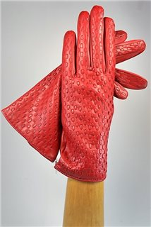Woven ladies nappa gloves, cashmere lined