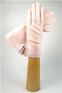ladies nappa gloves, silk lined, pink