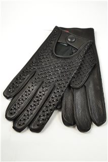 woven driving gloves, man, black