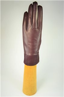 Ladies nappa gloves, cashmere lined, bordeaux