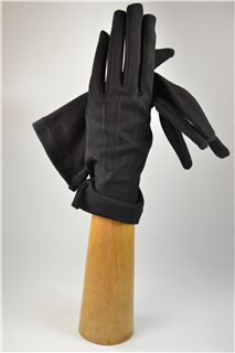 fabric gloves, lady's, black