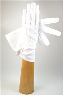 fabric gloves, lady's, white